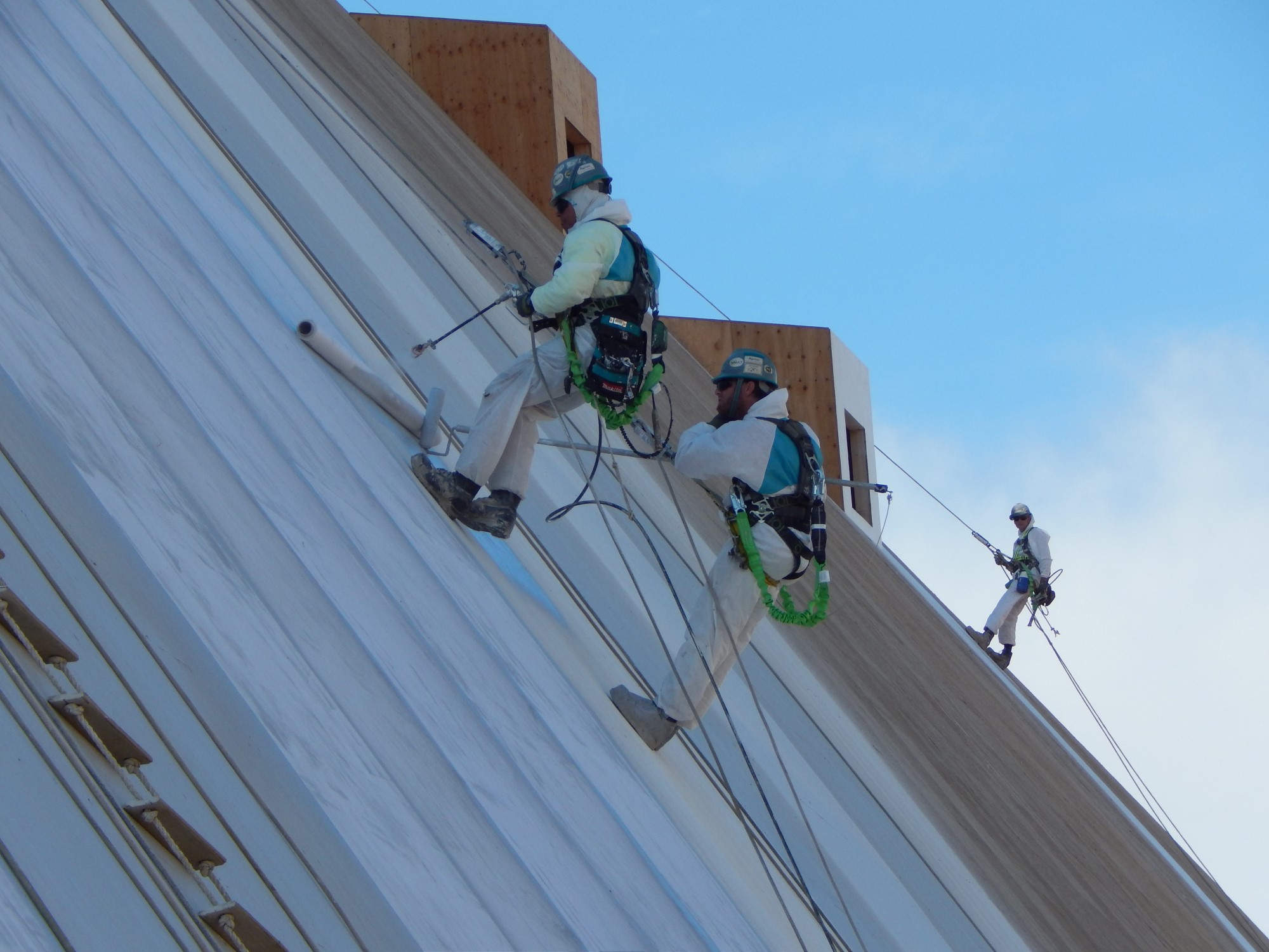 installing imbedded fabric roofing