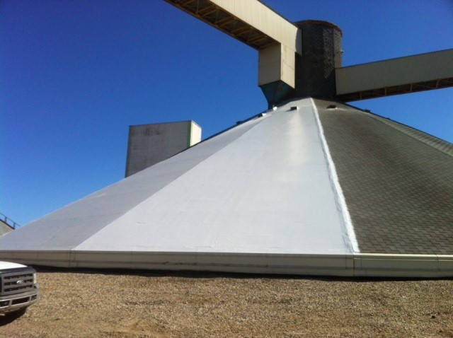 Imbedded Fabric roof potash storage